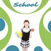 foto of schoolgirl  - School concept - JPG