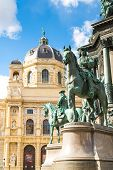 Постер, плакат: Detail Of Maria Theresa Monument In Maria thesienplatz Vienna Austria