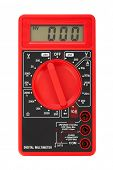 stock photo of  multimeter  - Electric multimeter isolated on white background - JPG