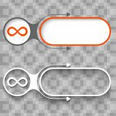 foto of infinity symbol  - Two abstract frames with arrows and infinity symbol - JPG
