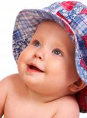 image of happy baby boy  - sweet baby smiling - JPG