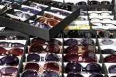 stock photo of protective eyewear  - Many sun glasses - JPG