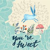 stock photo of you are awesome  - You are sweet concept card - JPG