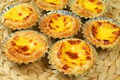 stock photo of pasteis  - Traditional portugeuse egg tarts  - JPG