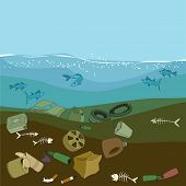 pic of water pollution  - Water pollution in the ocean - JPG