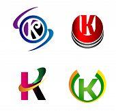 stock photo of letter k  - Set of Letter K logo icon vector - JPG