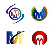 picture of letter m  - Letter M logo Icons Set Vector Graphic Design - JPG