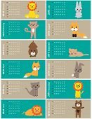 foto of new years baby  - Colorful calendar for the new year 2016 - JPG