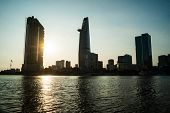 image of breathtaking  - Panorama of Ho Chi Minh viewed over Saigon river - JPG