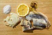 image of food chain  - Fillet herring with lemon - JPG