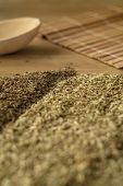 picture of cumin  - Spice foeniculum cumin for meat and fish meal on a kitchen table - JPG