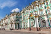 stock photo of winter palace  - Famous Winter Palace in Saint Petersburg - JPG