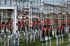 stock photo of transformer  - Electricity transformer - JPG
