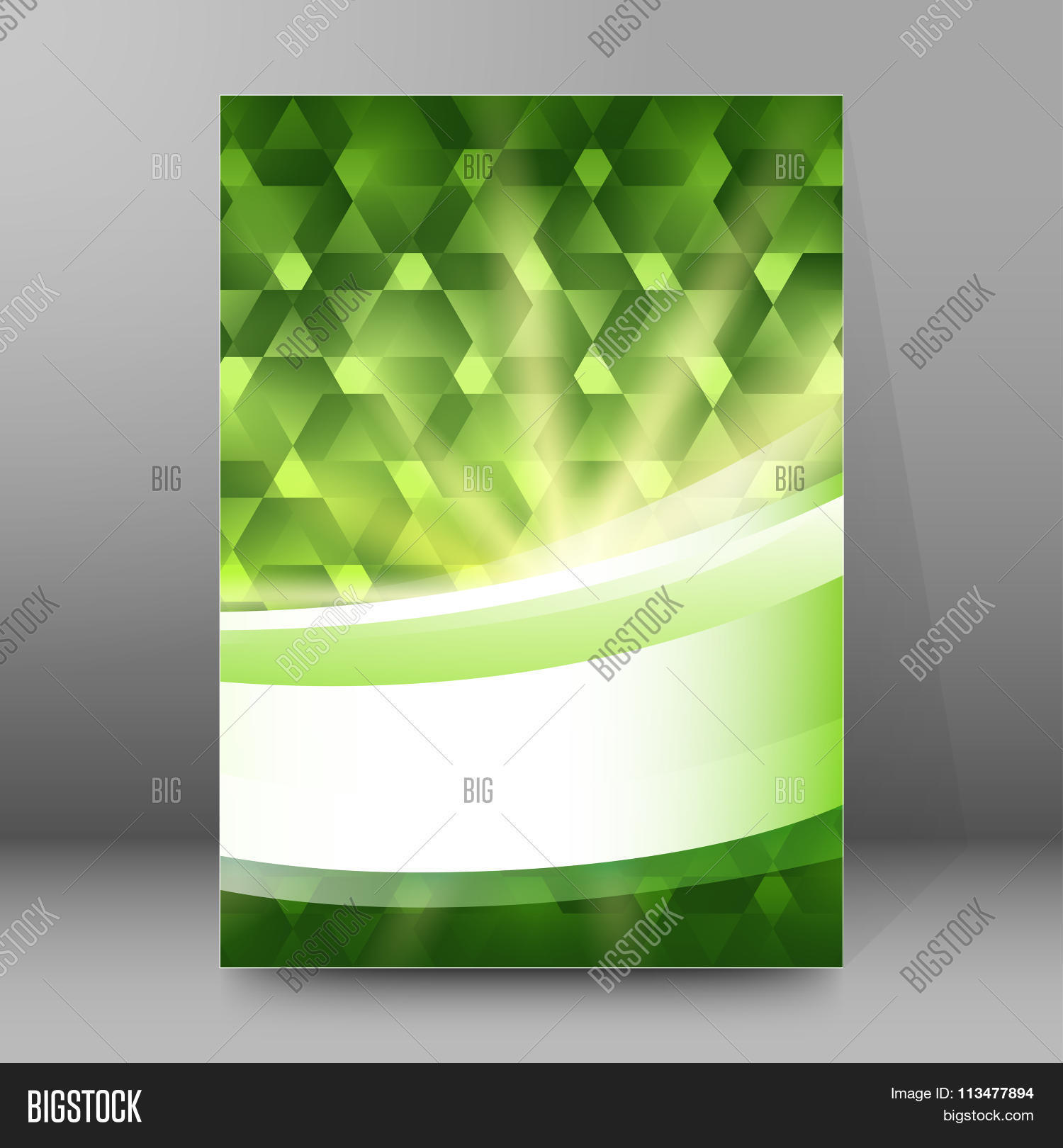 green light shapes cover page brochure background stock vector green light shapes cover page brochure background