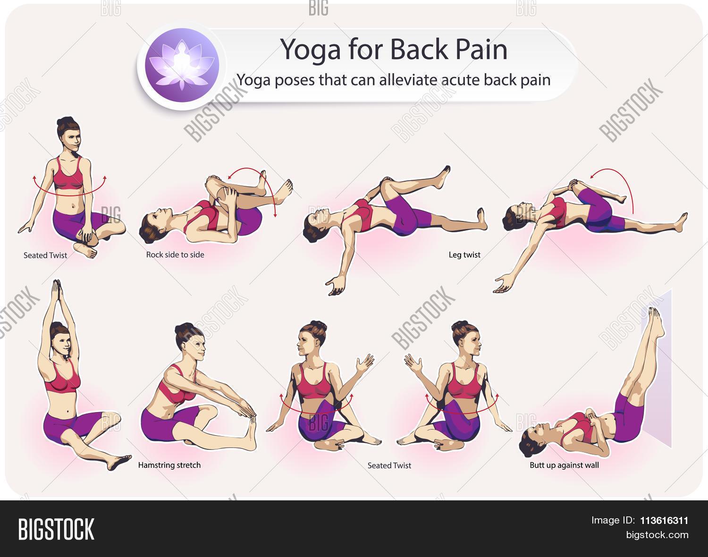 Yoga For Back Pain Stock Vector & Stock Photos   Bigstock