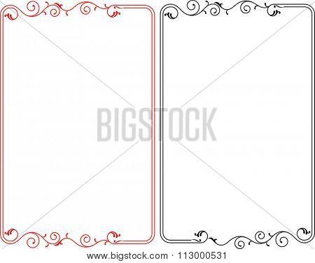Frame Border Design Raster Illustration