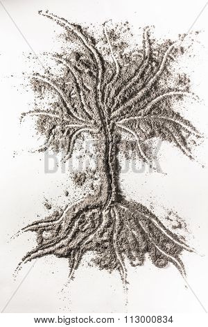 Tree Sign Made Of Ashes