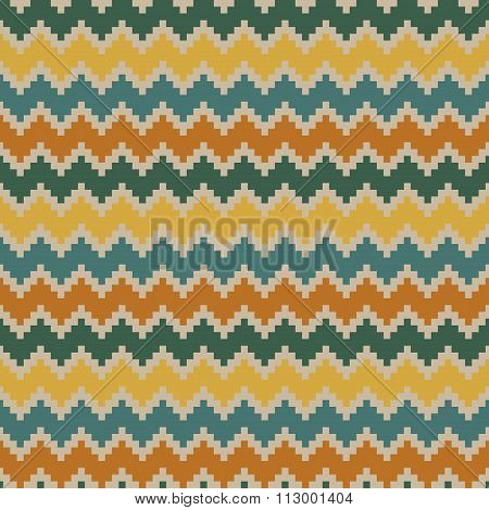 Vintage seamless zigzag pattern in soothing colors