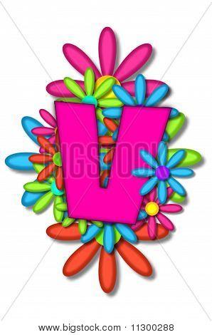 Alphabet Flower Cushion V
