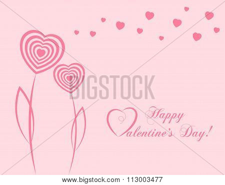 Banner For Design Posters Or Invitations On Valentine's Day With Cutest  Hearts Symbol As Abstra