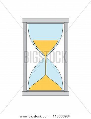Vector hourglass sketch