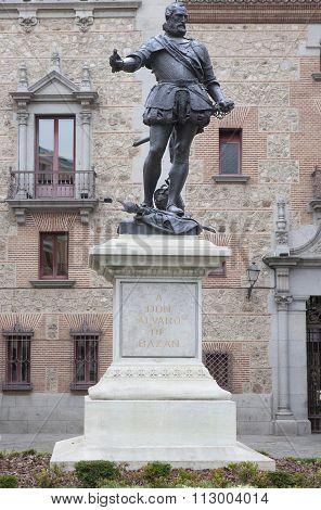 Statue Of Alvaro De Bazan, Spanish Admiral On Xvi Century