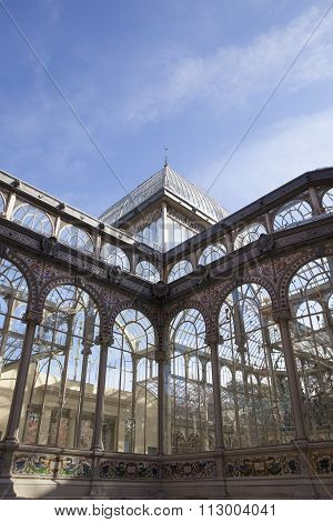 Crystal Palace Corner In Retiro Park, Madrid