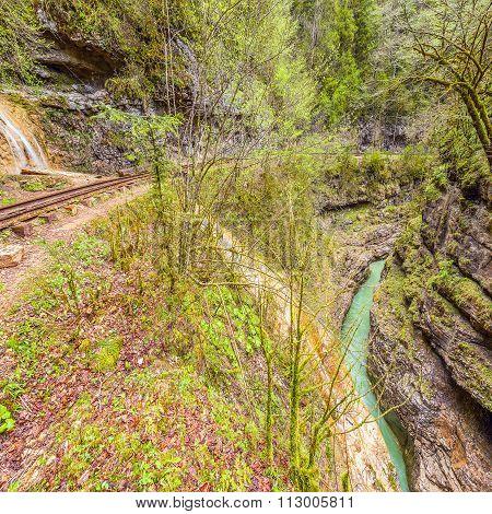 Narrow Gauge Railway. Guama Gorge.