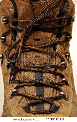 Sturdy hiking boots