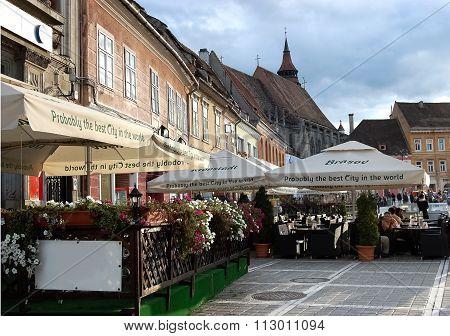 The Square In Brasov.