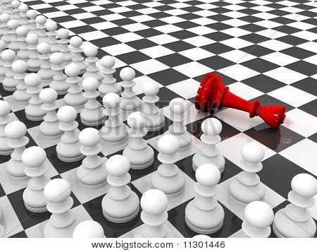Pawns Attacking King