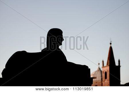 A Sphinx Silhouette