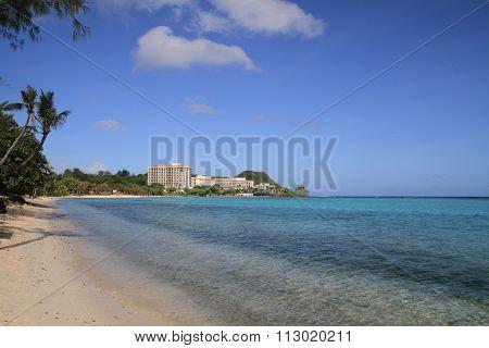 Tumon beach in Guam Micronesia