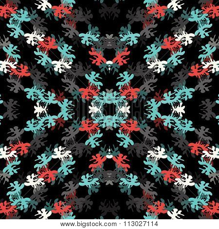 Beautiful Abstract Blots On A Black Background