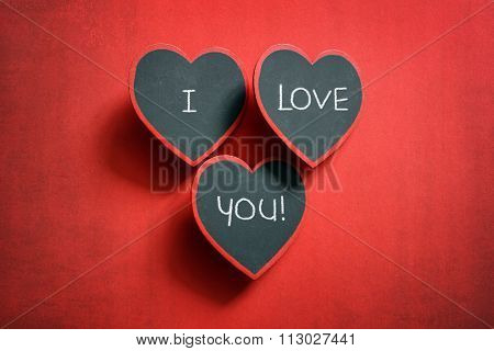 I love you chalkboard sign valentine's day message