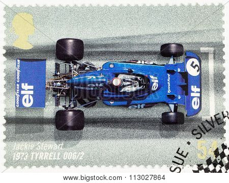 Britain Racing Car Postage Stamp