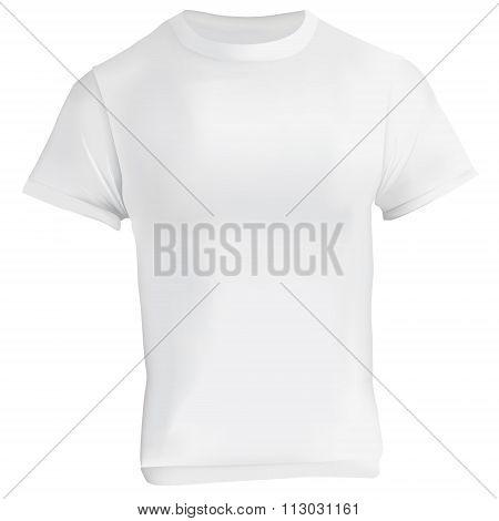 White Blank T-shirt Design Template