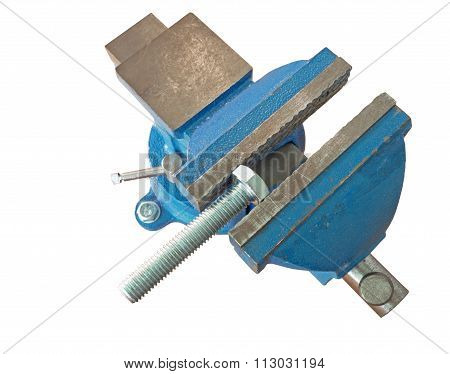Bolt Clamped In A Vise