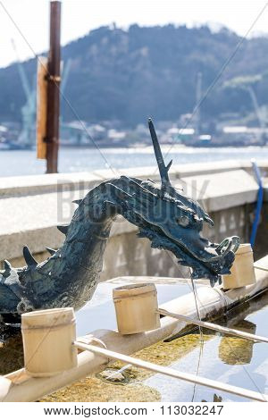 Washing water in Shinto shrine