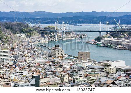 Onomichi city urban area