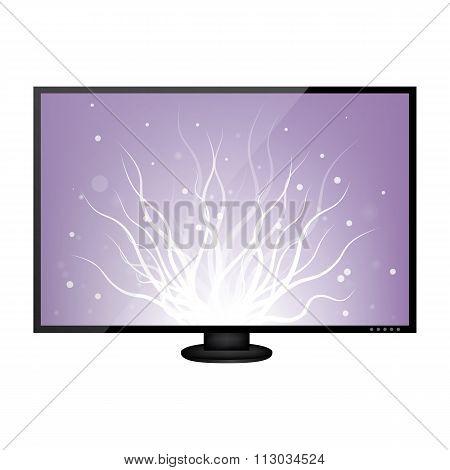 LCD monitor illustration