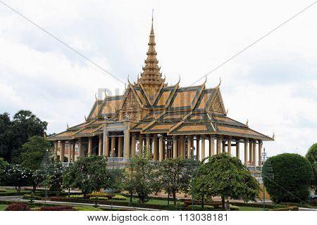 Royal palace of Cambodia in Phnom Penh