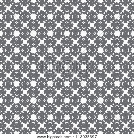 Gray Abstract Objects On A Light Background Seamless Pattern