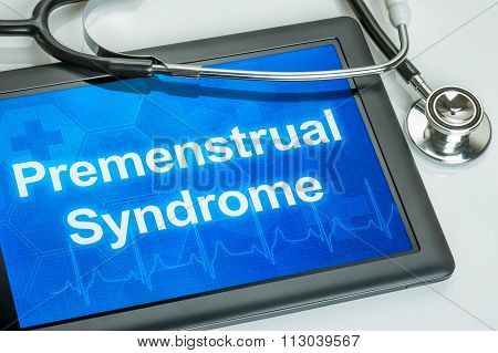 Tablet With The Diagnosis Premenstrual Syndrome On The Display