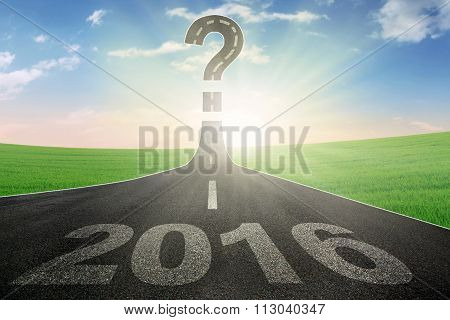 Road With Question Mark And Numbers 2016