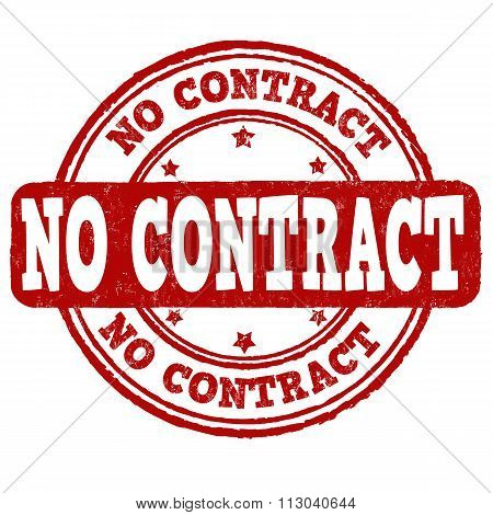 No Contract Stamp
