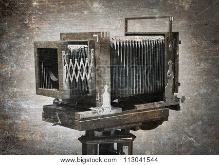Old Wooden Camera