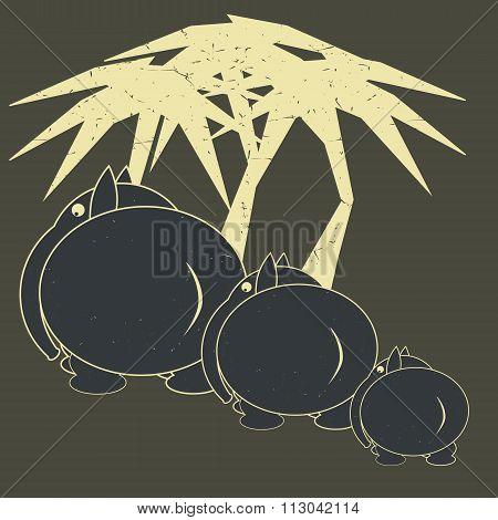 Elephants. Vector Illustration