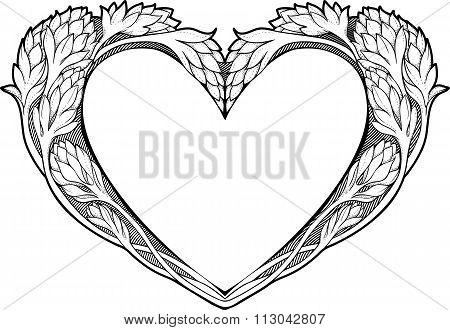heart in art nouveau style