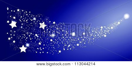 Comet Star on White Background. Vector Illustration.